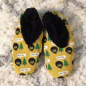 Bob Ross slippers! So soft!